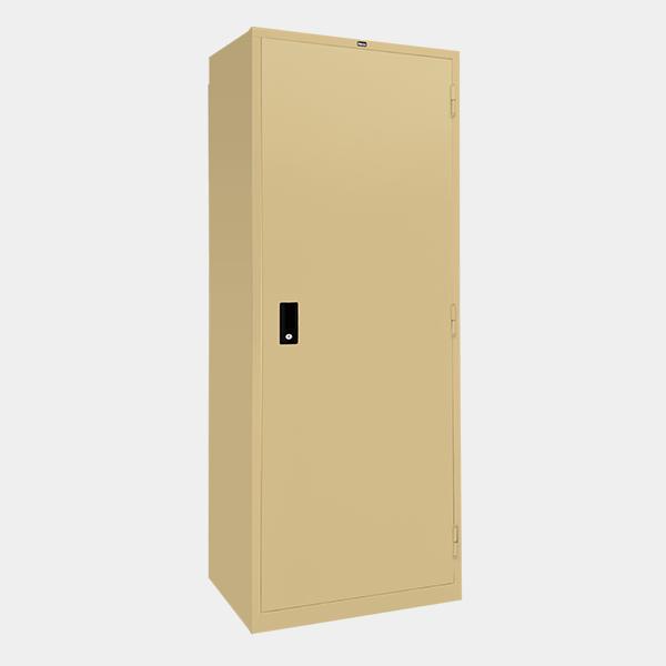 ตู้เสื้อผ้าเหล็ก บานเปิดทึบ รุ่น WO-D604 สีครีม