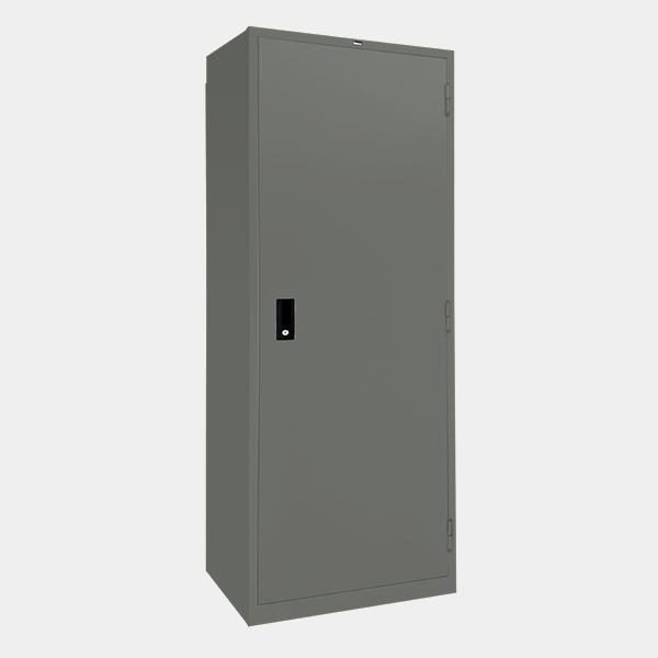 ตู้เสื้อผ้าเหล็ก บานเปิดทึบ รุ่น WO-D604 สีเทาราชการ