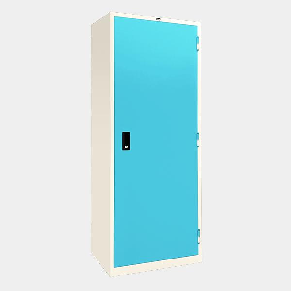 ตู้เสื้อผ้าเหล็ก บานเปิดทึบ รุ่น WO-D604 สีฟ้า