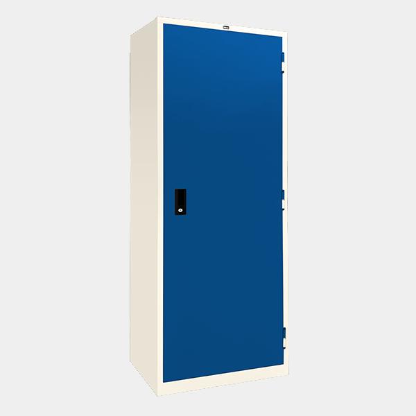 ตู้เสื้อผ้าเหล็ก บานเปิดทึบ รุ่น WO-D604 สีน้ำเงิน