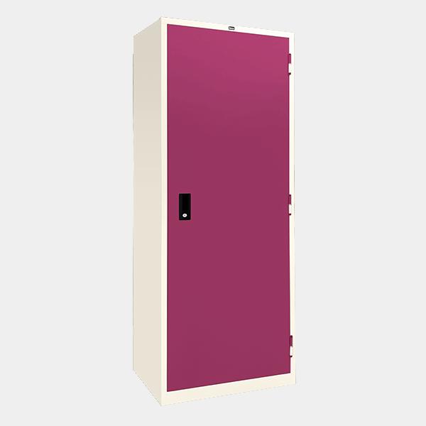 ตู้เสื้อผ้าเหล็ก บานเปิดทึบ รุ่น WO-D604 สีม่วง