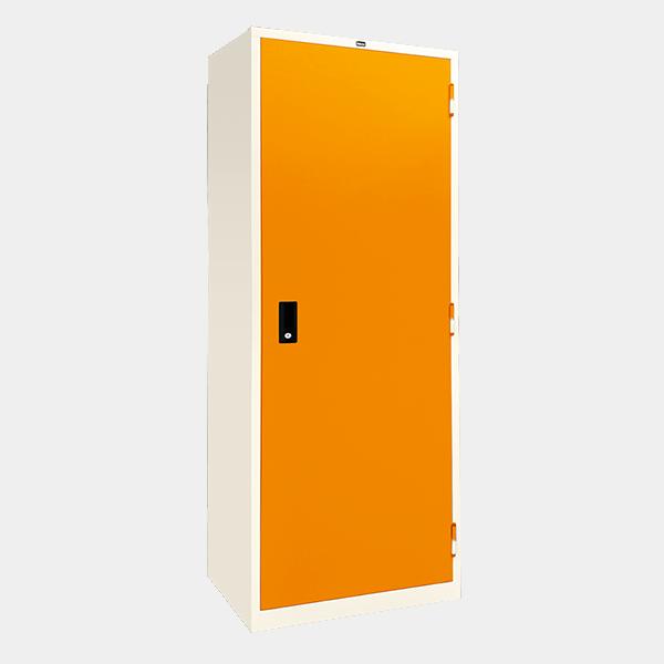 ตู้เสื้อผ้าเหล็ก บานเปิดทึบ รุ่น WO-D604 สีส้ม