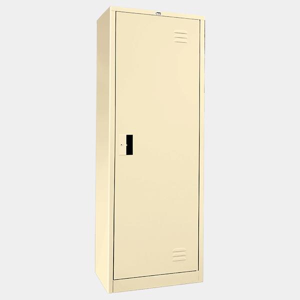 ตู้เสื้อผ้าเหล็ก บานเดี่ยว ทึบ รุ่น WO-D504 สีขาวมุก