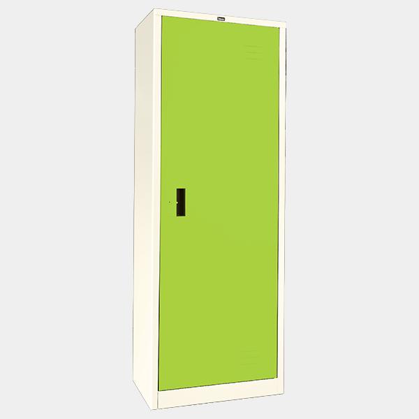 ตู้เสื้อผ้าเหล็ก บานเดี่ยว ทึบ รุ่น WO-D504 สีเขียว