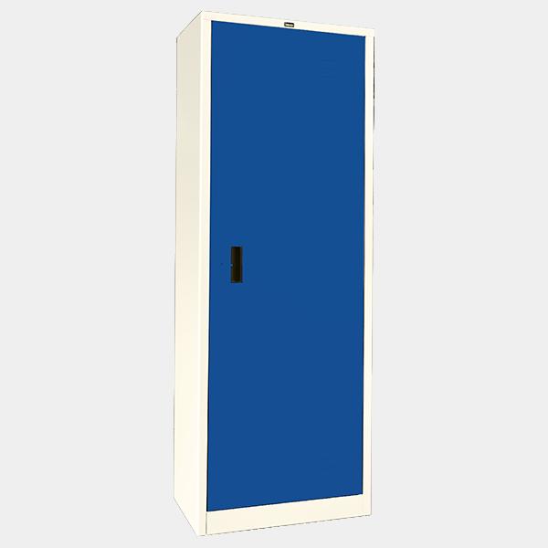 ตู้เสื้อผ้าเหล็ก บานเดี่ยว ทึบ รุ่น WO-D504 สีน้ำเงิน