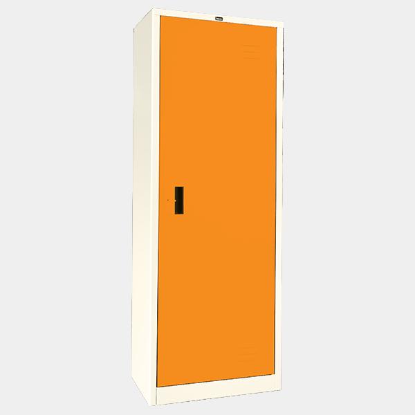 ตู้เสื้อผ้าเหล็ก บานเดี่ยว ทึบ รุ่น WO-D504 สีส้ม