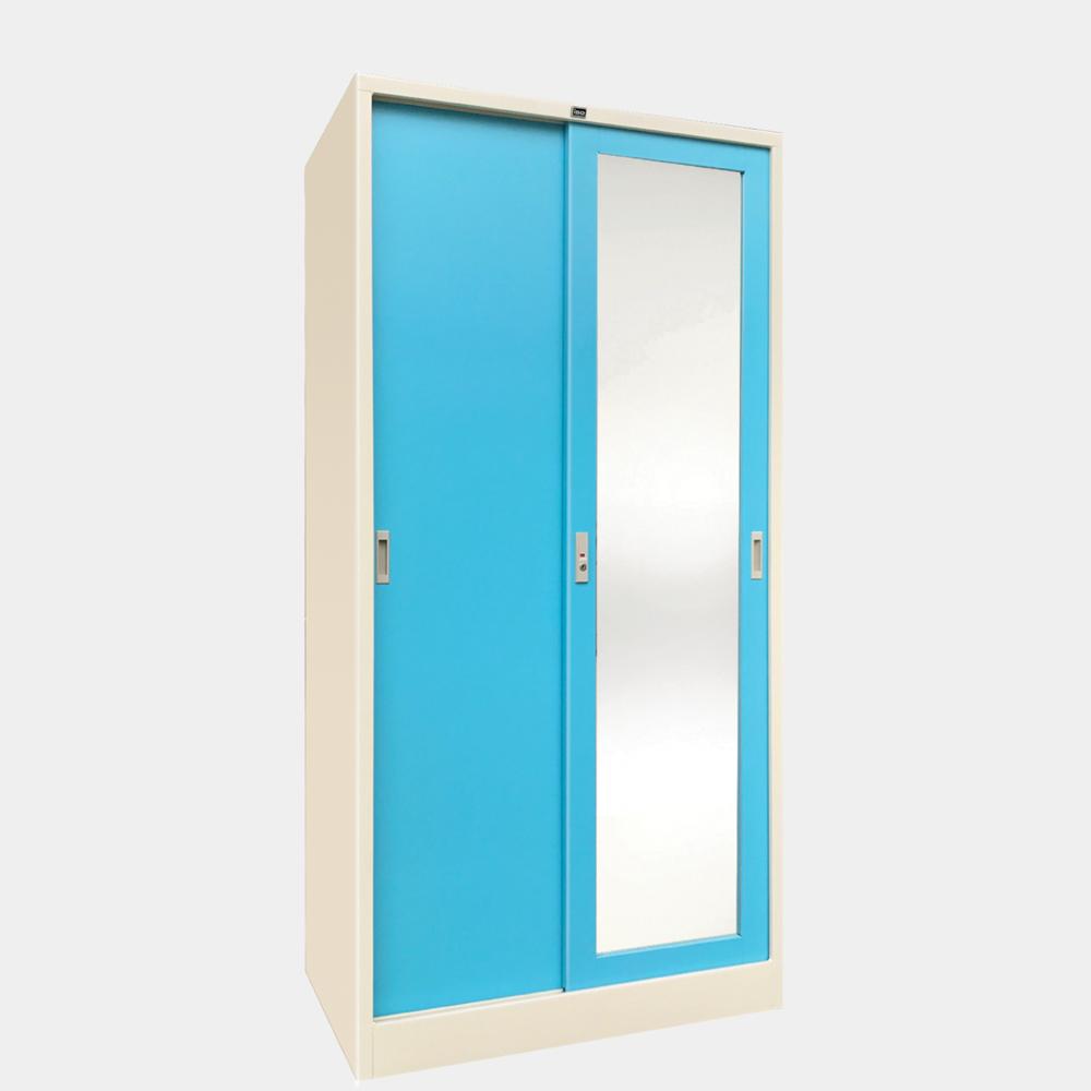 ตู้เสื้อผ้าทึบกระจกเงา 3 ฟุต รุ่น WS-342