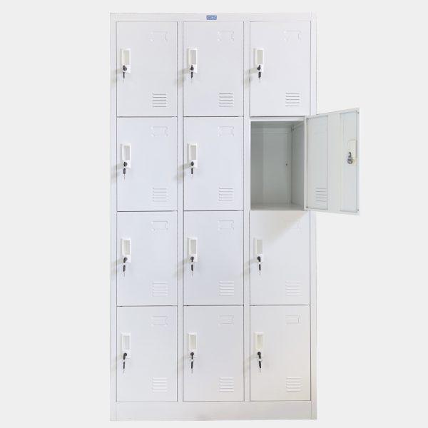 ตู้ล็อคเกอร์, ล็อคเกอร์, ตู้ล็อคเกอร์เหล็ก, ตู้ล็อคเกอร์ 12 ช่อง, ตู้ล็อคเกอร์ 12 ประตู