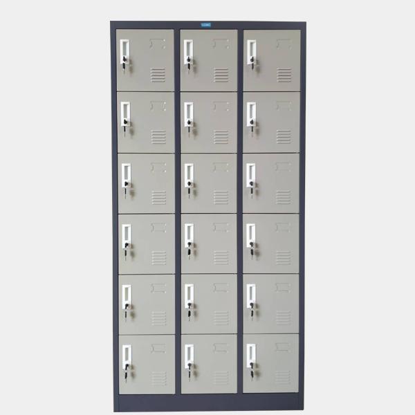 ตู้ล็อคเกอร์, ล็อคเกอร์, ตู้ล็อคเกอร์เหล็ก, ตู้ล็อคเกอร์ 18 ช่อง, ตู้ล็อคเกอร์ 18 ประตู