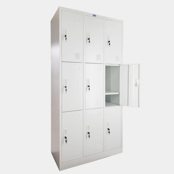 ตู้ล็อคเกอร์ 9 ช่อง, ตู้ล็อคเกอร์ 9 ประตู, ตู้ล็อคเกอร์, ตู้ล็อคเกอร์เหล็ก
