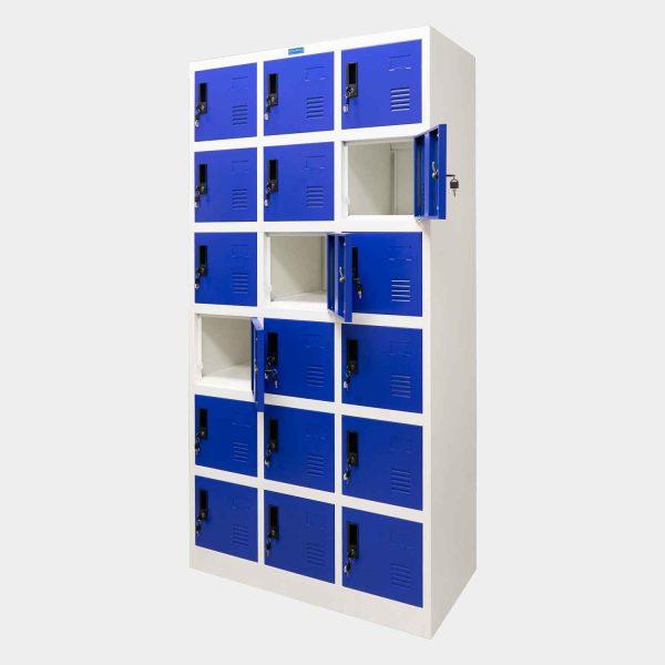 ตู้ล็อคเกอร์, ตู้ Locker, ตู้ล็อคเกอร์ 18 ช่อง, ตู้ล็อกเกอร์ 18 ช่อง, ตู้ล็อกเกอร์ 18 ประตู, ตู้ Locker 18 ช่อง