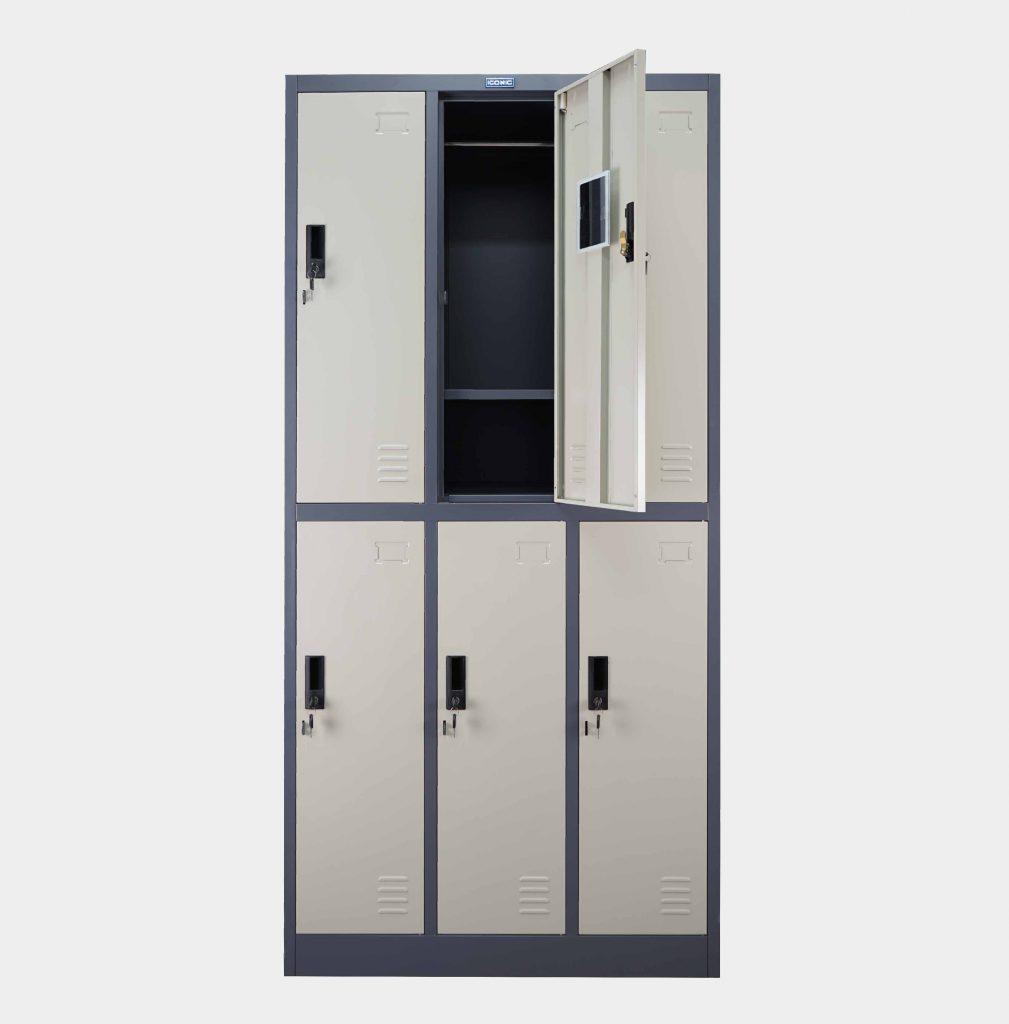 ตู้ล็อคเกอร์, ตู้ล็อคเกอร์เหล็ก, ตู้ล็อคเกอร์ 6 ประตู, ตู้ล็อคเกอร์ 6 ช่อง, ตู้ล็อคเกอร์ ราคา