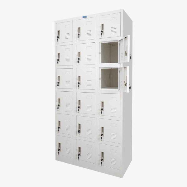 ตู้ล็อคเกอร์, ตู้ล็อคเกอร์ 18 ประตู, ตู้ล็อคเกอร์ 18 ช่อง