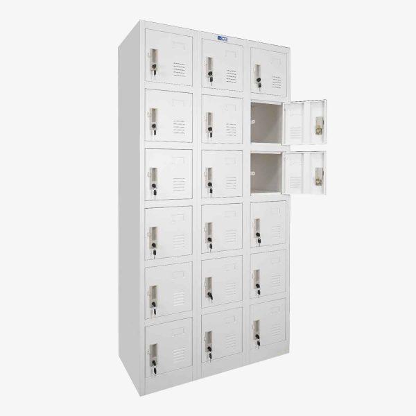 ตู้ล็อคเกอร์,ตู้ล็อคเกอร์เหล็ก,ตู้ล็อคเกอร์เหล็ก 18 ประตู